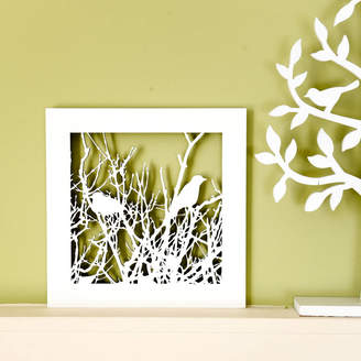 For Me & For You Designs Small Birds In Tree Silhouette Wall Art
