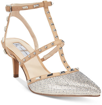INC International Concepts Carma Evening Kitten Heel Pumps, Only at Macy's $99.50 thestylecure.com