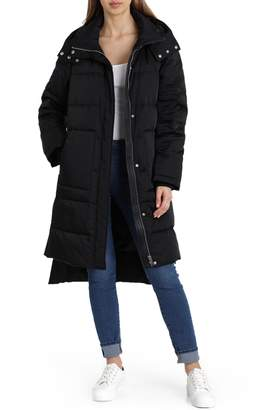 AVEC LES FILLES Insulated Step Hem Puffer Coat