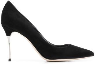 Sergio Rossi metallic heel pumps