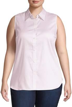 Chaps Plus Sleeveless Collared Shirt
