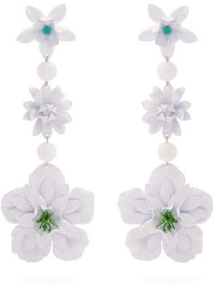 Isabel Marant Aloha Flower And Bead Embellished Earrings - Womens - White