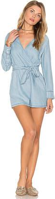 BB Dakota Carlisle Romper in Blue $100 thestylecure.com