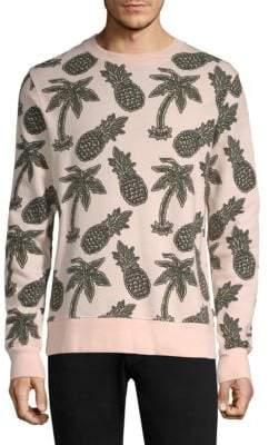 Wesc Miles Pineapple All Over Print Crewneck Sweatshirt