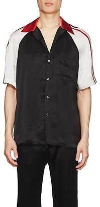 ca53d6fa0ee4 Gucci Men's Logo-Detailed Silky Twill Bowling Shirt - Black