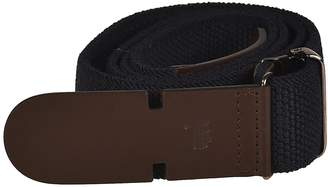 Tod's Canvas And Leather Greca Belt