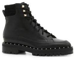 Valentino Leather Rockstud Combat Boots