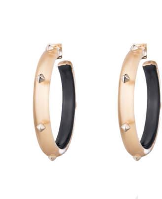 Alexis Bittar Gold Studded Hoop Earring
