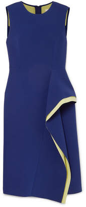 Jason Wu Collection - Draped Two-tone Crepe Dress - Violet