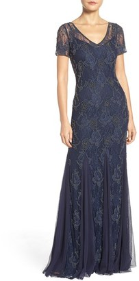 Women's Adrianna Papell Beaded Lace Gown $349 thestylecure.com