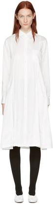 Comme des Garçons Comme des Garçons White Cotton Shirt Dress $635 thestylecure.com