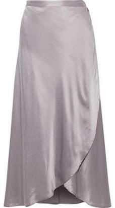 Joie Dahoma Silk-Charmeuse Midi Wrap Skirt