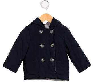 Il Gufo Boys' Double Breasted Hooded Jacket