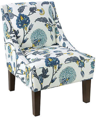 One Kings Lane Fletcher Swoop-Arm Chair - Painted Floral