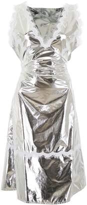 Calvin Klein Apron Dress With Lace Details