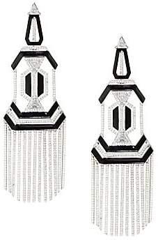Nikos Koulis Nikos Koulis Oui Diamond, Enamel& 18K White Gold Chandelier Earrings