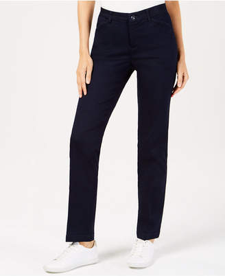 60649eb5 Lee Platinum Petite Soft Stretch Straight-Leg Pants