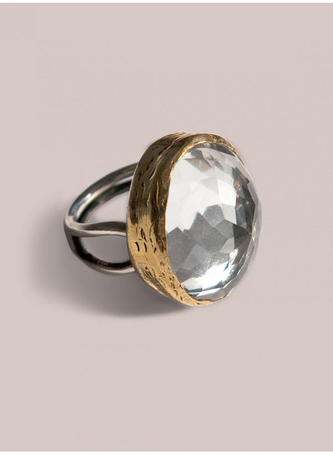 IGIGI Faceted Rock Crystal Ring