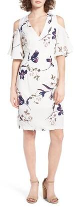 Women's Leith Flutter Sleeve Cold Shoulder Dress $69 thestylecure.com