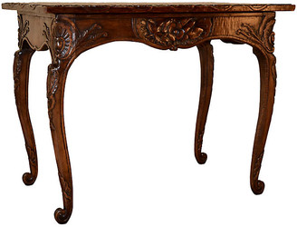 One Kings Lane Vintage 19th-C. Irish Carved Table - Black Sheep Antiques