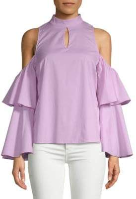 Choker Neck Bell-Sleeve Top