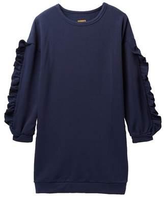 Harper Canyon Ruffle Sleeve Fleece Dress (Big Girls)