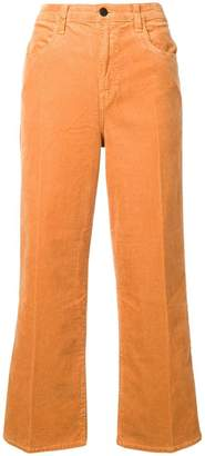 J Brand straight cropped corduroy trousers