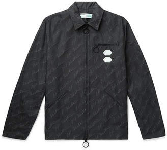 Off-White Logo-Print Cotton-Blend Canvas Jacket
