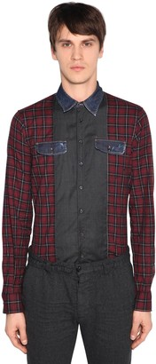 DSQUARED2 Carpenter Patchwork Cotton Check Shirt