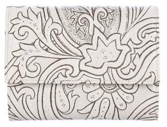 Etro Patterned Leather Trifold Wallet