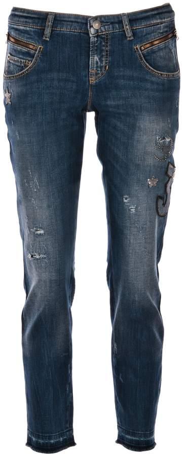 "7/8 Jeans ""Laurie Patch ́ ́ Blau"