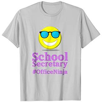 Cool School Secretary Emoji Office Ninja T-shirt PRPL