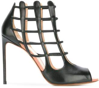 Francesco Russo cell bars motif sandals