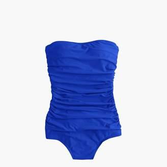 J.Crew Long torso ruched bandeau one-piece swimsuit