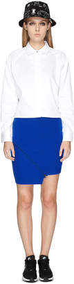 Opening Ceremony Cobalt Blue Felted Zipper Skirt
