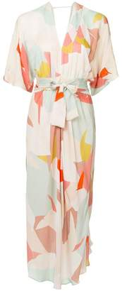Ginger & Smart print Converge belted dress