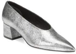 Vince Rafe Metallic Leather Pumps