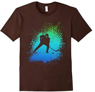 Hockey Colorful T Shirt Watercolor Painting Graphic Style