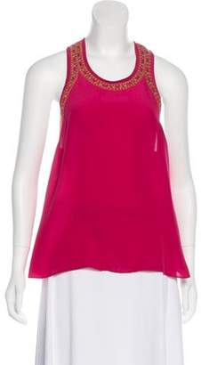 Gryphon Sleeveless Silk Top