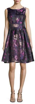 Eliza J Floral Jacquard Fit--Flare Dress