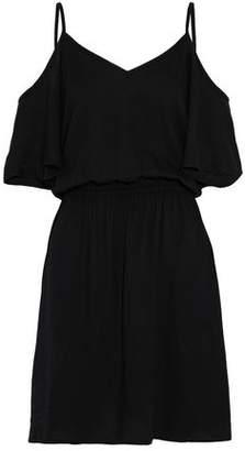 Splendid Cold-Shoulder Washed-Crepe Dress