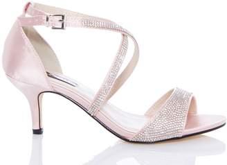 163db2af76 Next Womens Quiz Diamanté Low Heeled Sandals