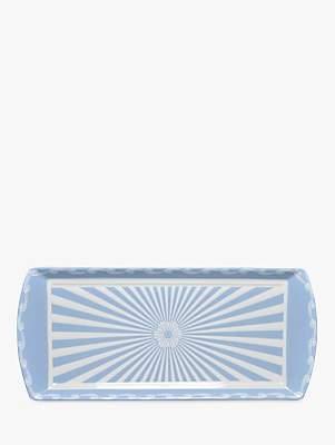 Little Venice Cake Company Striped Cake Tray, Blue/White