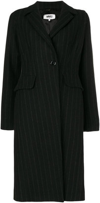 pinstripe overcoat
