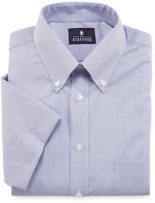 STAFFORD Stafford Travel Performance Short-Sleeve Oxford Dress Shirt