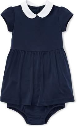 Ralph Lauren Stretch Cotton Dress & Bloomer