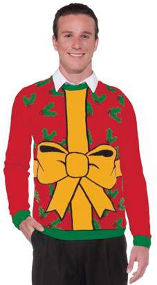 Forum Novelties Adult All Wrapped Up Red Ugly Christmas Sweater