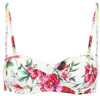 Dolce & Gabbana Printed bikini top