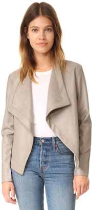 BB Dakota Peppin Vegan Leather Drapey Jacket $87 thestylecure.com
