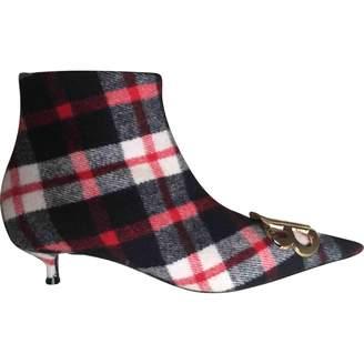 Balenciaga BB Multicolour Tweed Ankle boots
